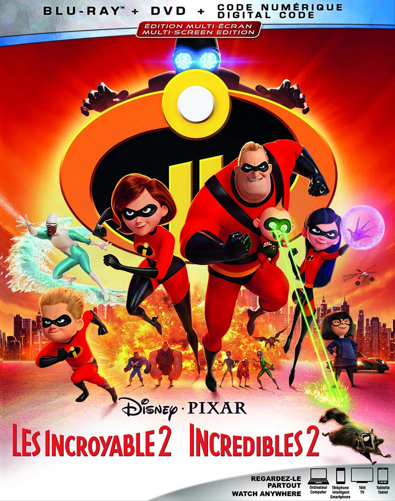 Incredibles 2 on Blu-ray and DVD