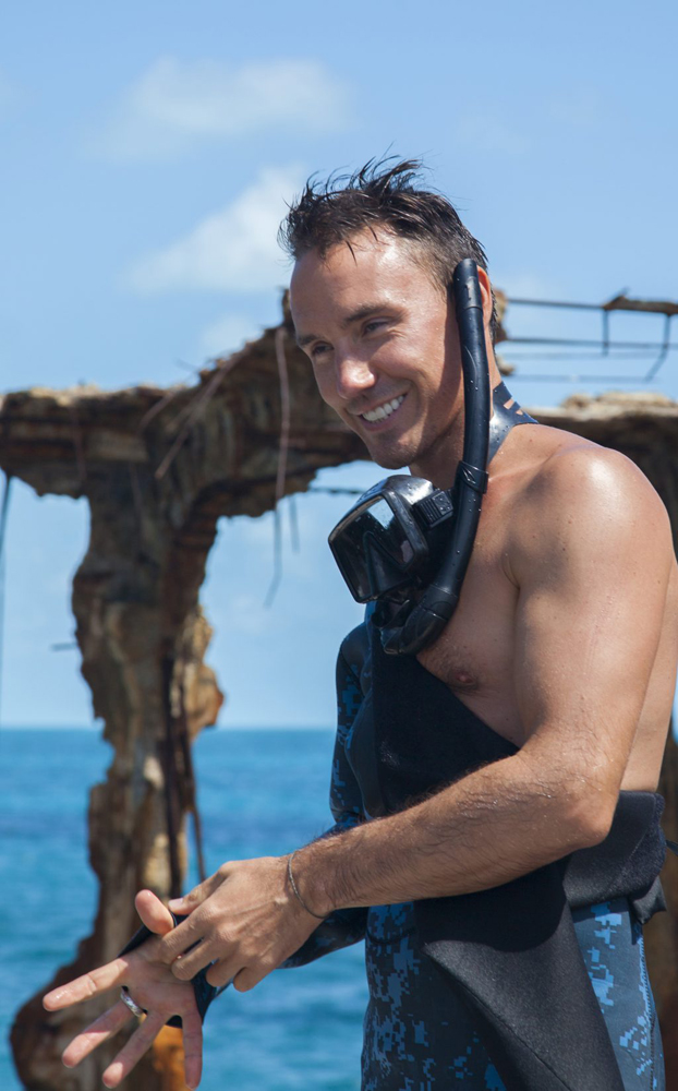 Rob Stewart filming Sharkwater Extinction