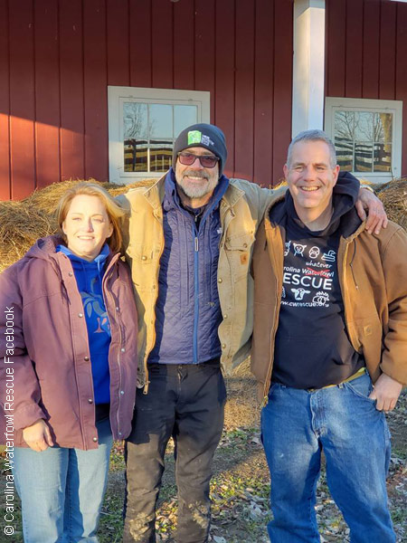 Jeffrey Dean Morgan at the Carolina Waterfowl Rescue