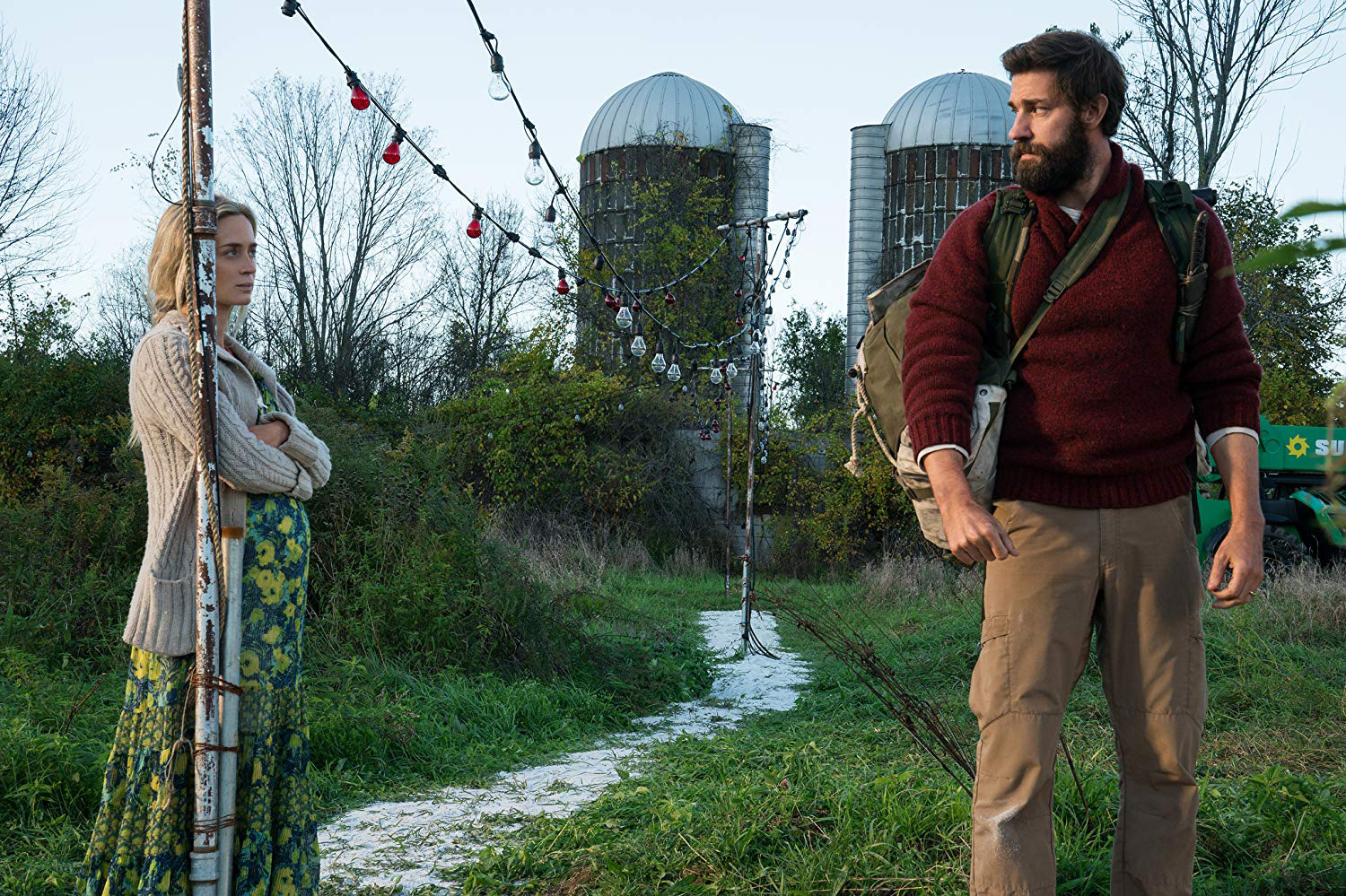 Emily Blunt and John Krasinski in the Paramount Pictures release A Quiet Place