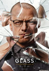 Glass movie poster starring James McAvoy