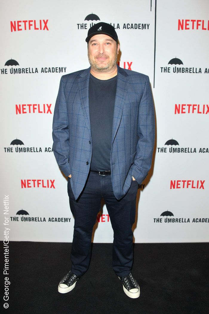 Steve Blackman at The Umbrella Academy red carpet in Toronto
