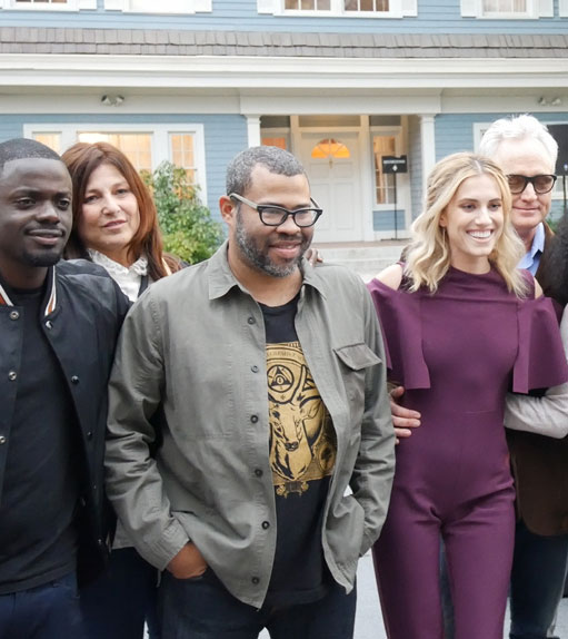Jordan Peele with Get Out cast at Universal