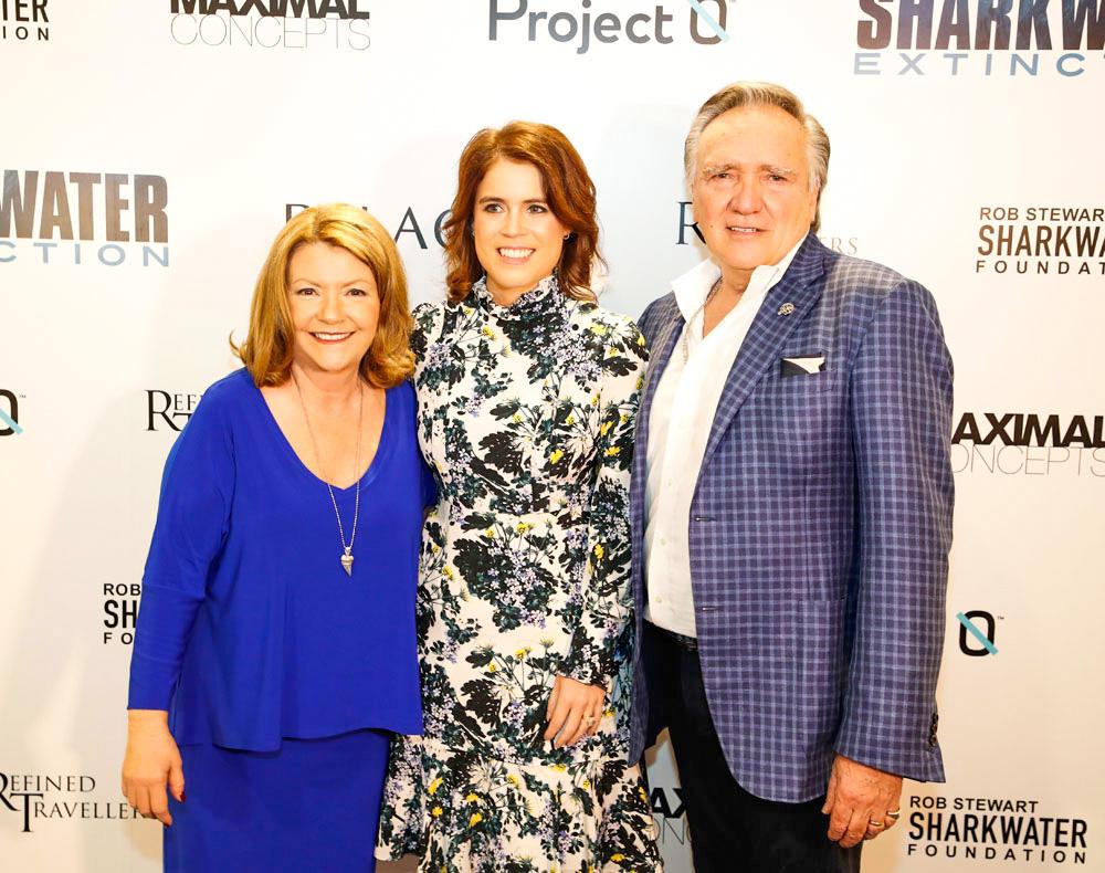 L to R: Sandy Stewart, Princess Eugenie, Brian Stewart