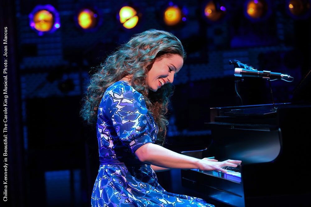Chilina Kennedy as Carole King. Photo Credit: Joan Marcus