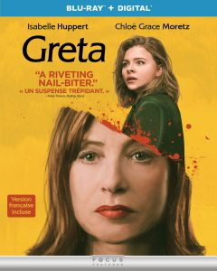 Greta starring Isabelle Huppert on Blu-ray