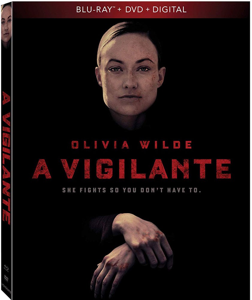 Olivia Wilde stars in A Vigilante now on Blu-ray and DVD