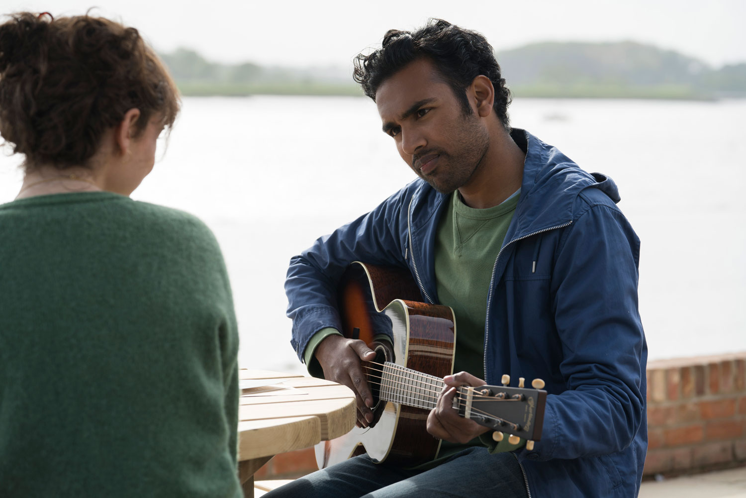 Lily James and Hamish Patel in Yesterday