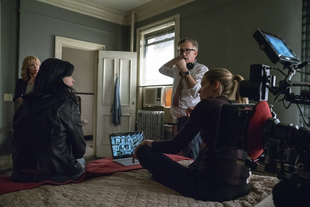 Rebecca De Mornay, Krysten Ritter, Rachael Taylor with director Stephen Surjik