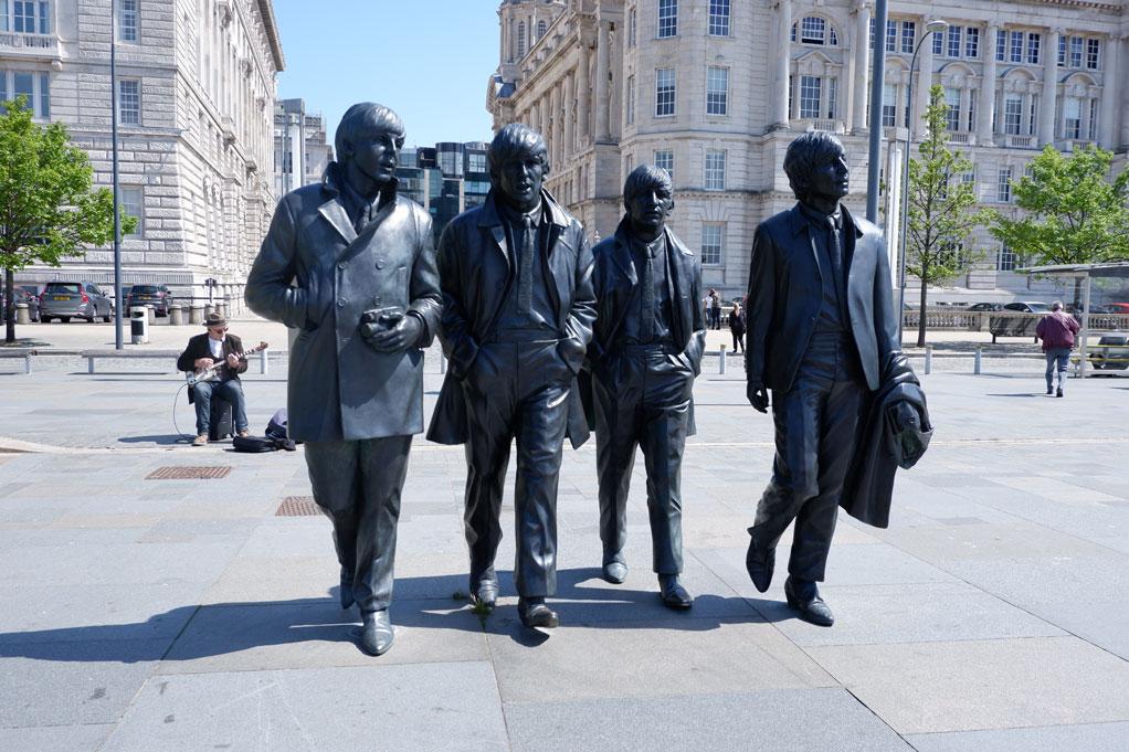 The Beatles Statue on the Albert Dock in Liverpool