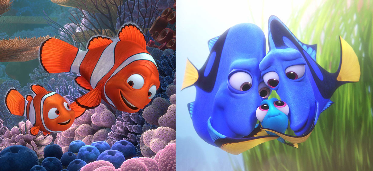 Finding Nemo 2003 Finding Dory 2016 13 Years Celebrity Gossip And Movie News