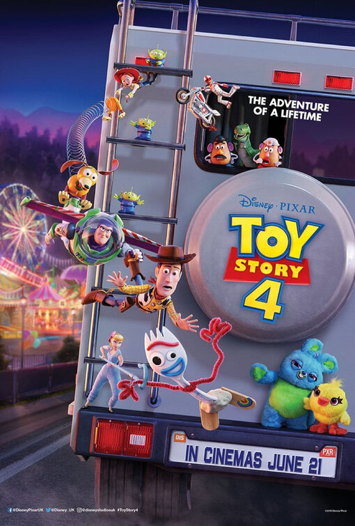 Toy Story 4, now playing in theaters
