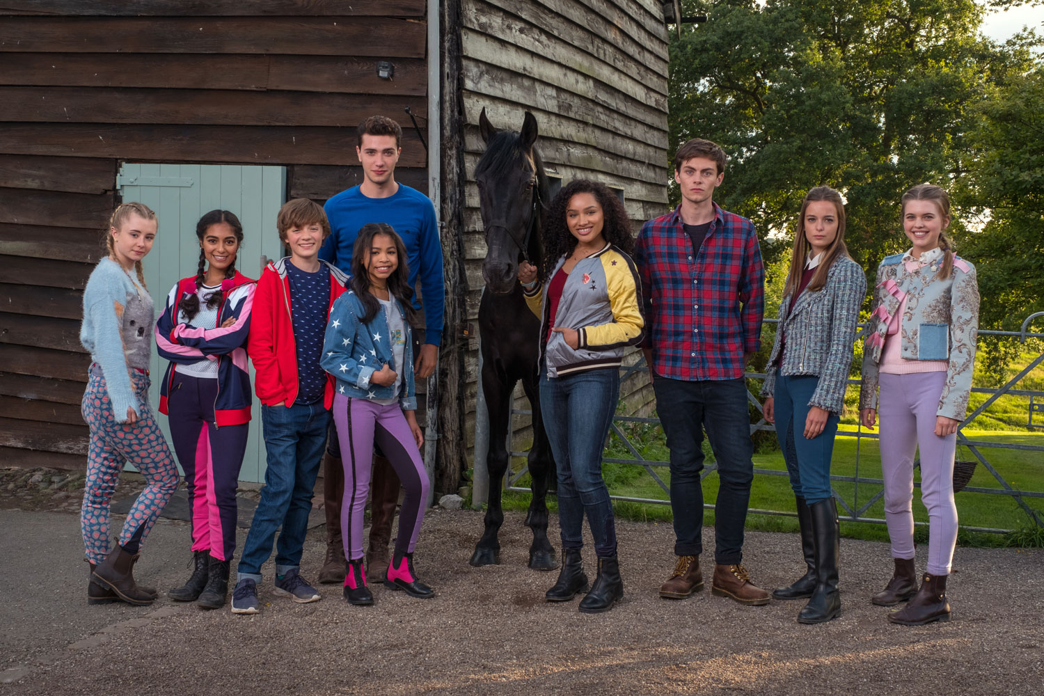 The cast of Free Rein