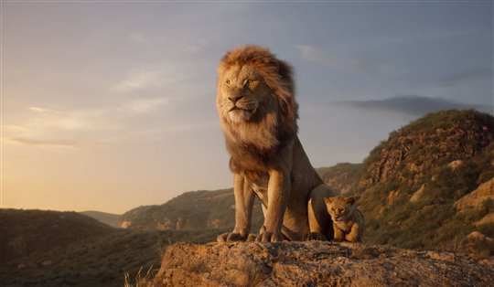 Mufasa and young Simba