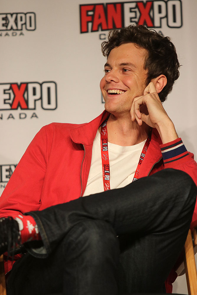 Jack Quaid during The Boys panel at Fan Expo