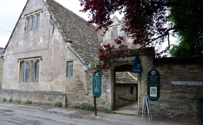 Although the village of Downton is within walking distance of Downton Abbey on the show, the village of Bampton is 30 miles from Highclere Castle. The entrance to the Downtown Cottage Hospital (pictured here) is actually the Bampton Library, and only the exterior is used for the show.