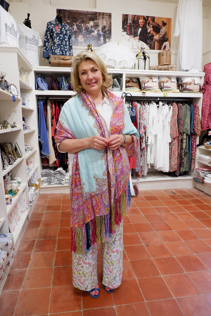 Lady Carnarvon in the gift shop