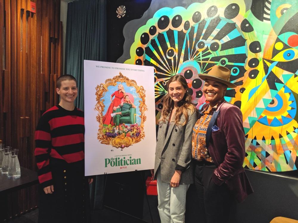 Theo Germaine, Laura Dreyfuss and Rahne Jones