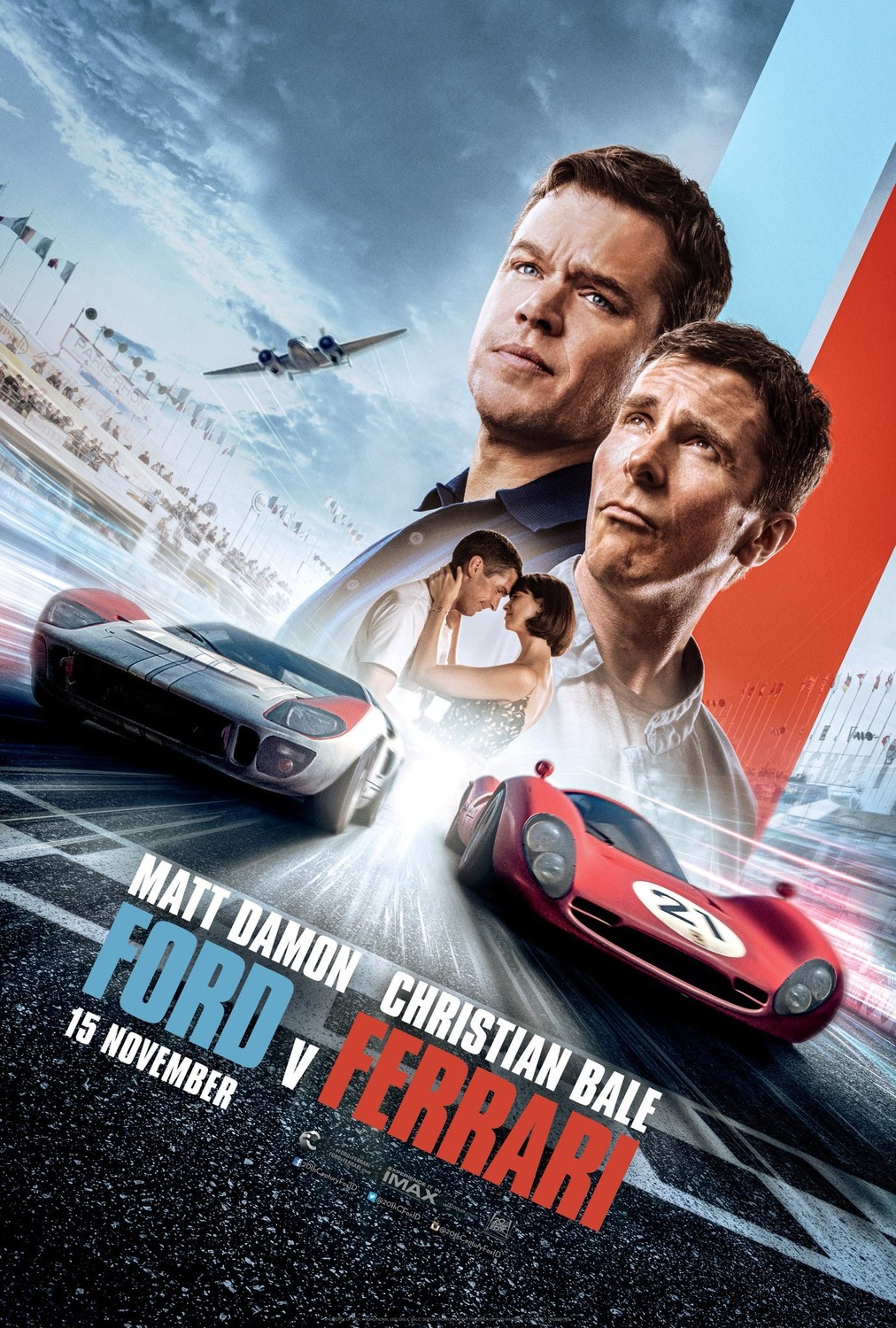 Ford v Ferrari races to first place at weekend box office