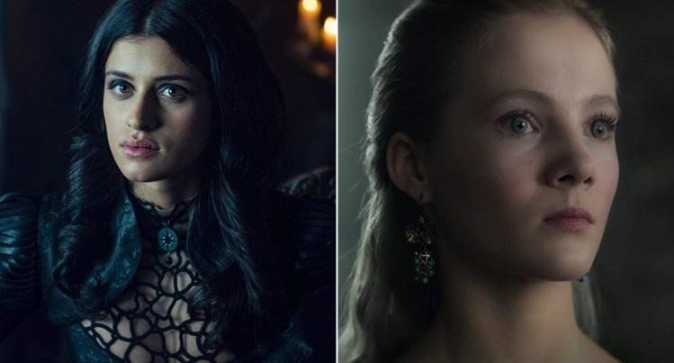 Anya Chalotra, Freya Allan in The Witcher