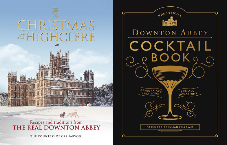 Downtown Abbey Cocktail Book and Christmas at Highclere