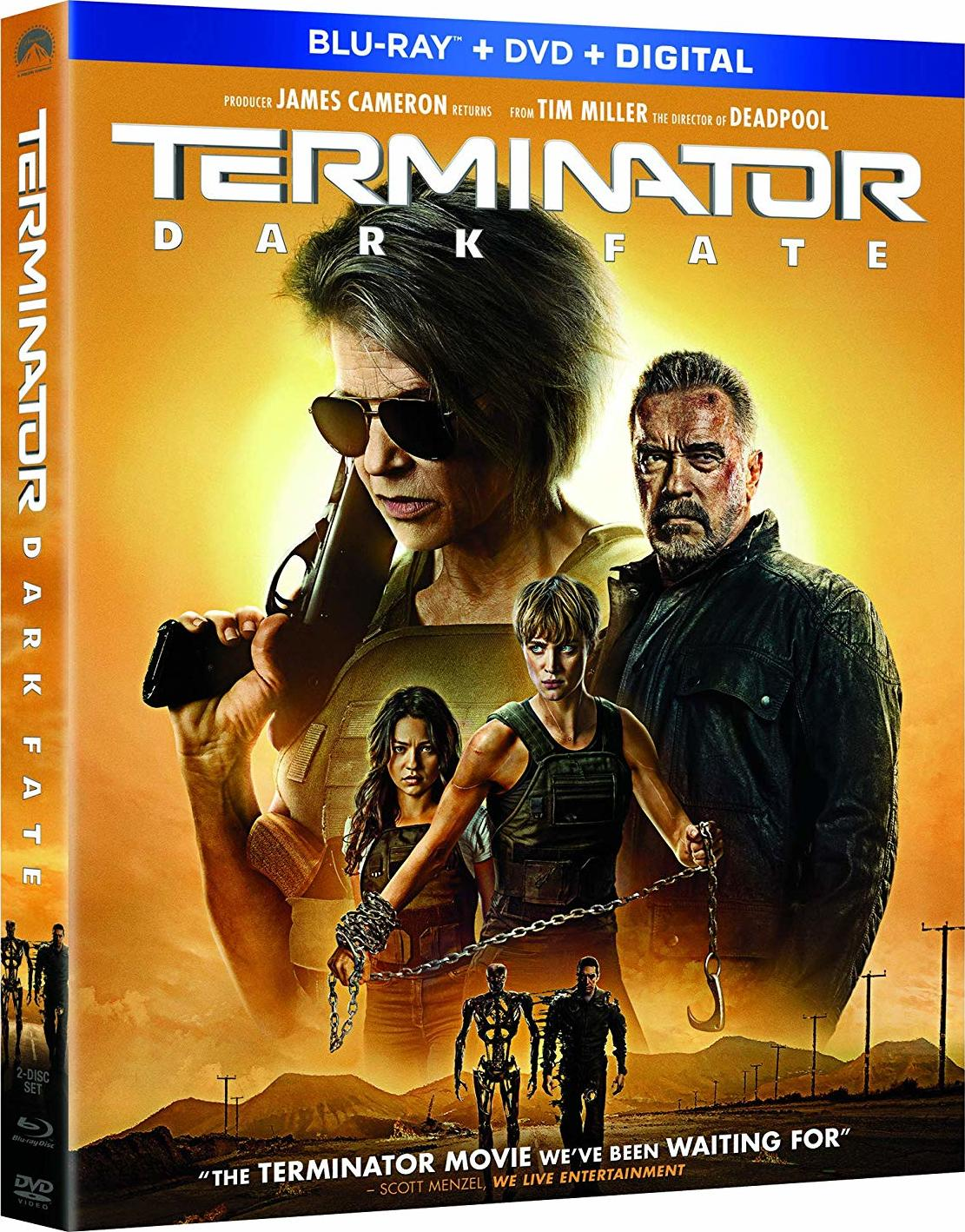 Terminator: Dark Fate, now available on Blu-ray and DVD