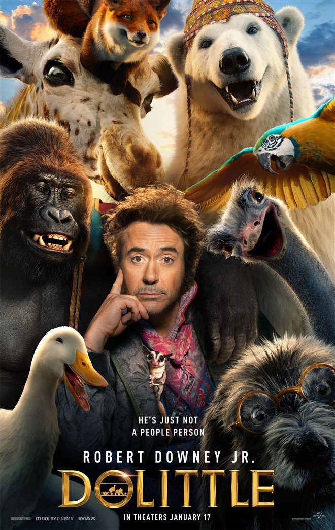 Robert Downey Jr. stars in Dolittle movie poster