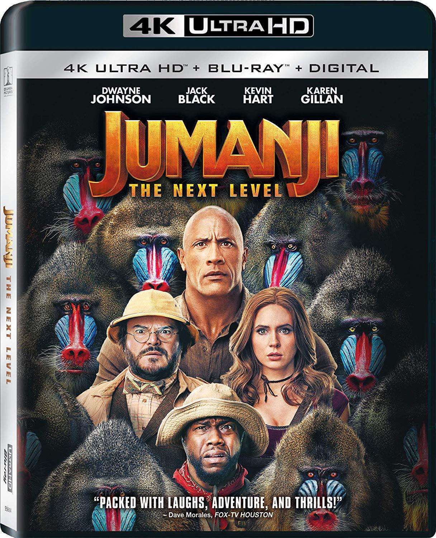 Jumanji: The Next Level Blu-ray and DVD