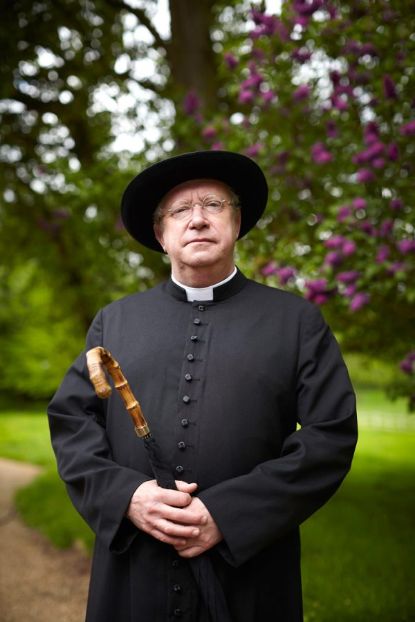 Mark Williams as Father Brown. Courtesy BritBox