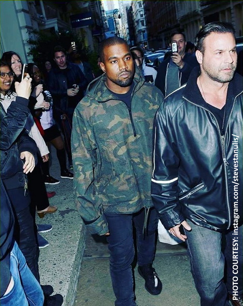 Kanye West and Steve Stanulis
