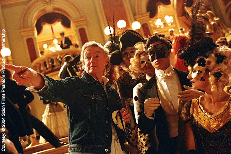 Joel Schumaker directing the 2004 movie The Phantom of the Opera