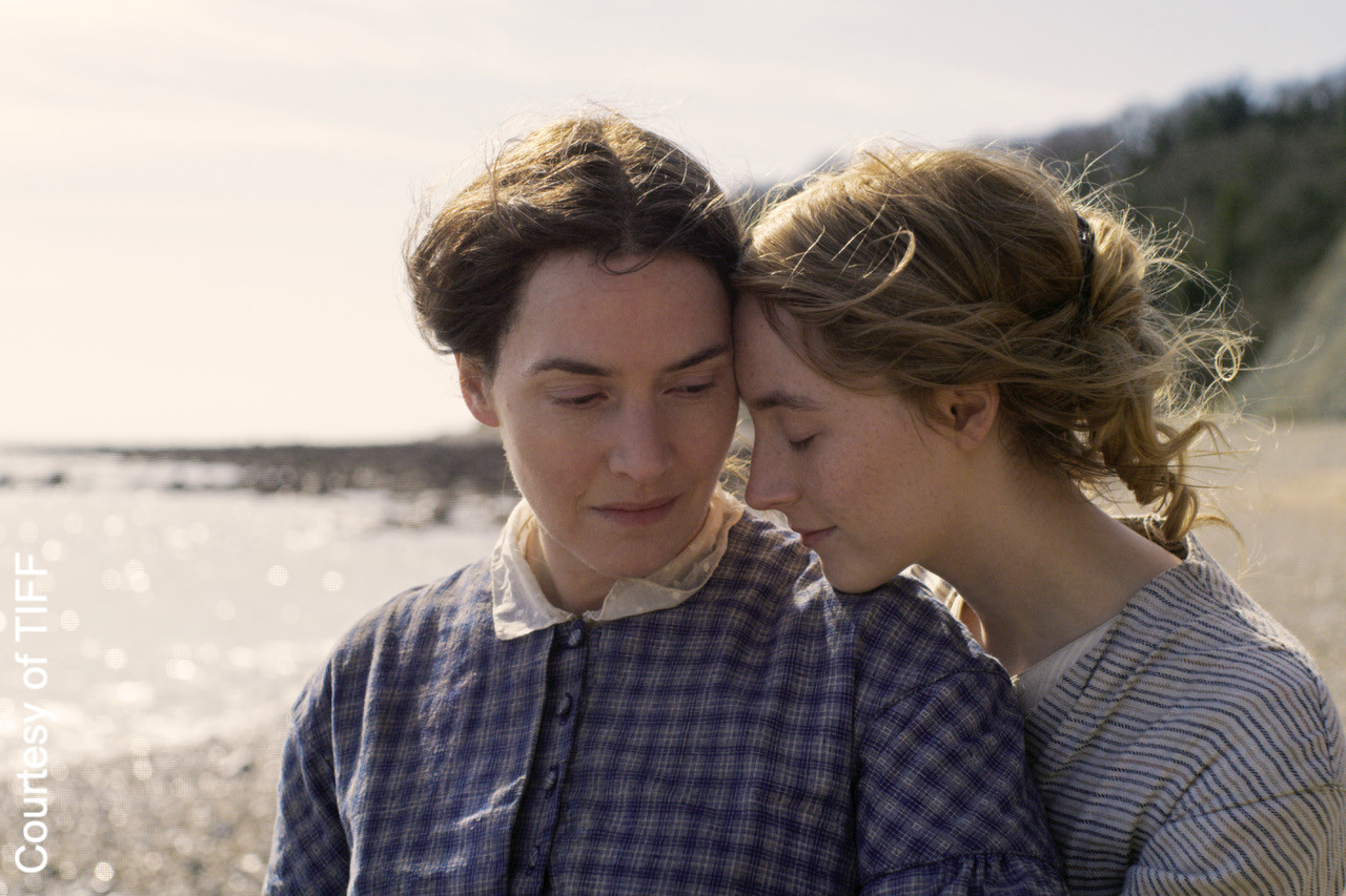 Ammonite, starring Kate Winslet and Saoirse Ronan