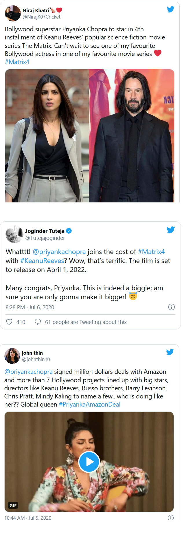 Priyanka Chopra Jonas to star in Matrix 4