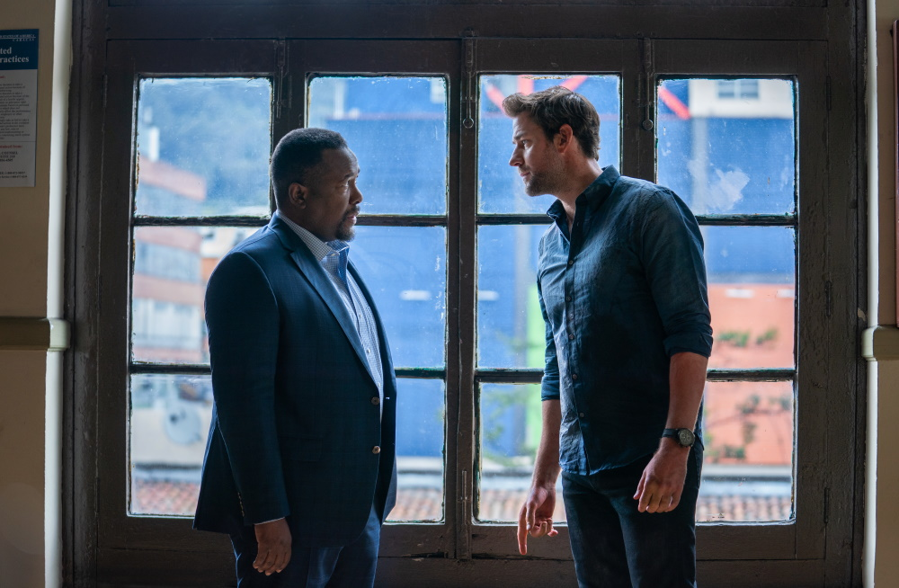 Wendell Pierce and John Krasinki in Tom Clancy's Jack Ryan Season Two