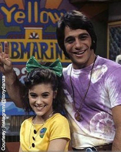 Alyssa Milano and Tony Danza of Who's The Boss?