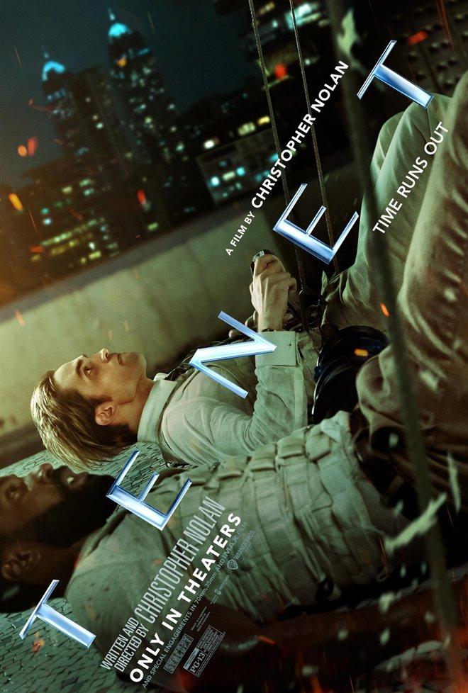 Tenet poster starring Robert Pattinson and John David Washington