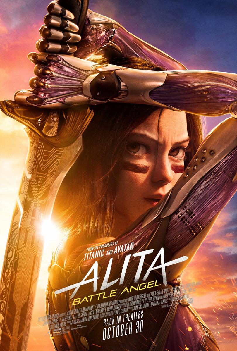 Alita: Battle Angel re-release poster