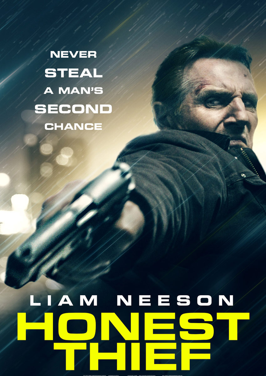 Honest Thief poster starring Liam Neeson