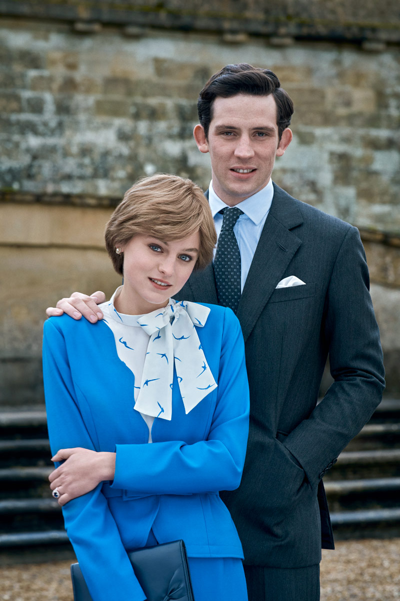 Emma Corrin as Diana and Josh O'Connor as Charles in The Crown