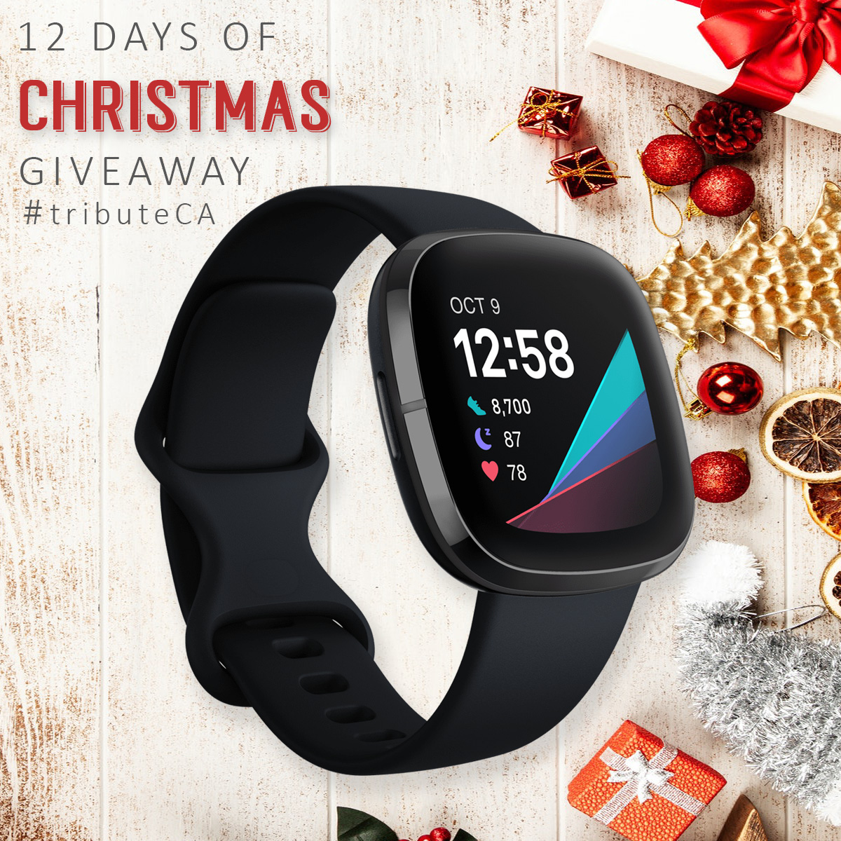 12 Days of Christmas giveaway: FitBit Sense