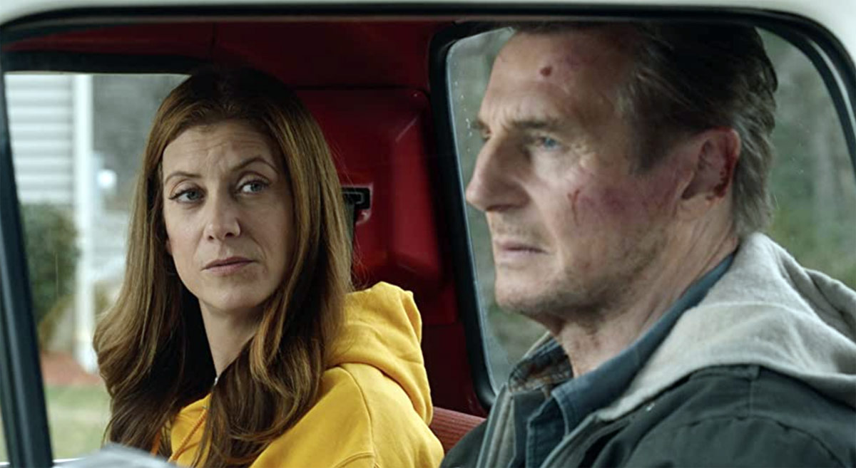Kate Walsh and Liam Neeson in Honest Thief