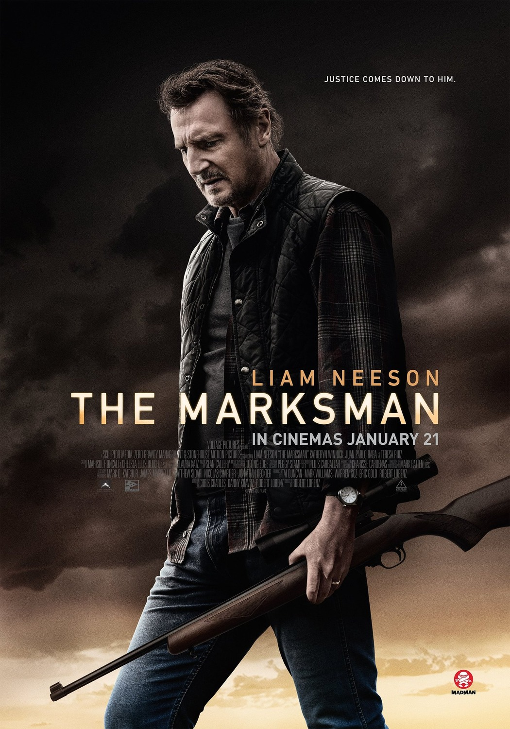 The Marksman hits its mark at the weekend box office ...