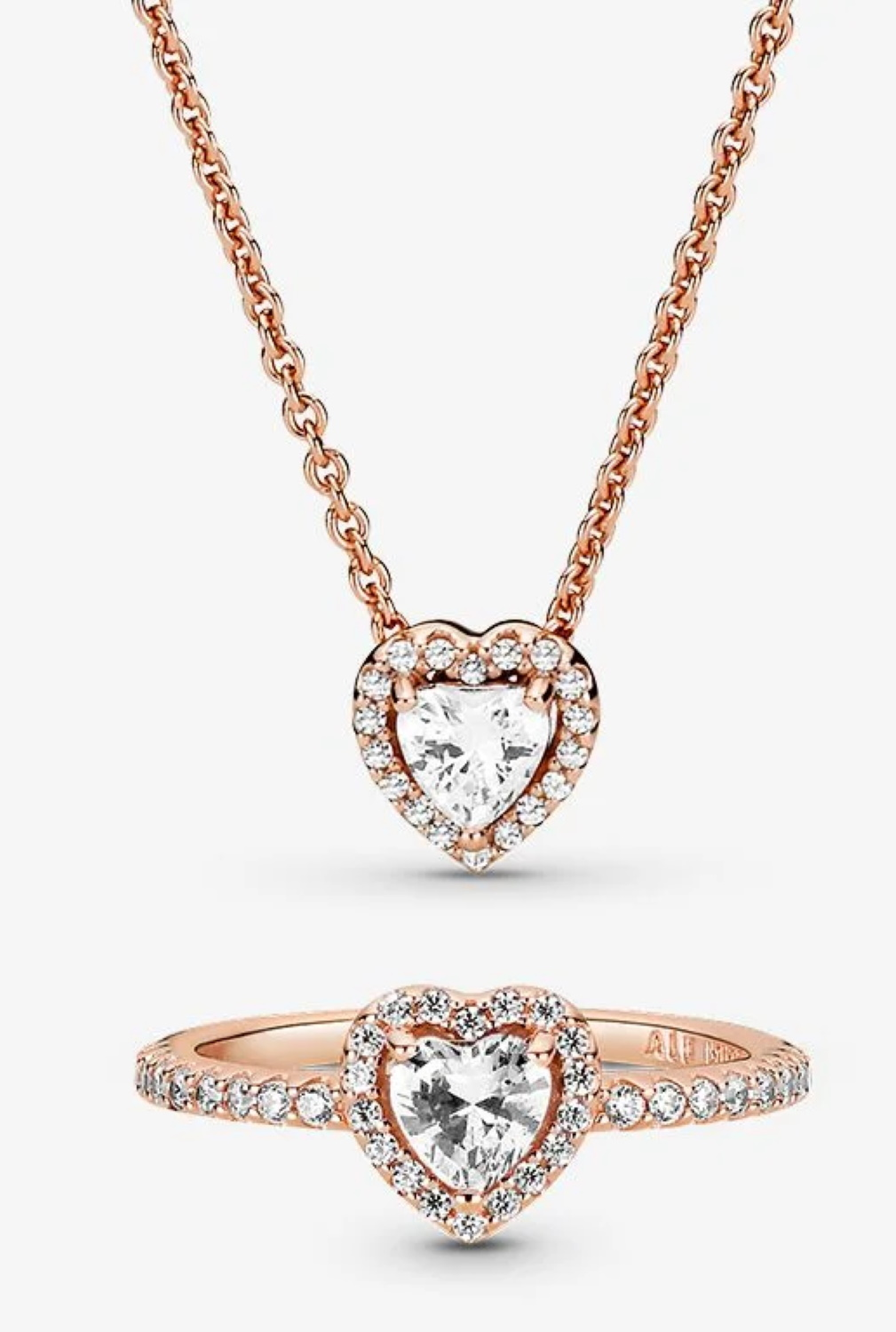 Pandora Classic Love Necklace and Ring Set
