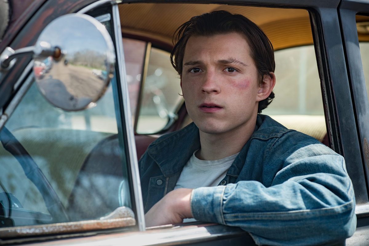 Tom Holland in the Devil All the Time. Photo Cr. Glen Wilson/Netflix © 2020
