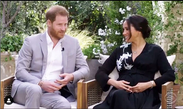 Prince Harry and Meghan Markle on Meghan's official Instagram