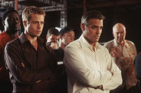 Brad Pitt and George Clooney in Ocean's Eleven