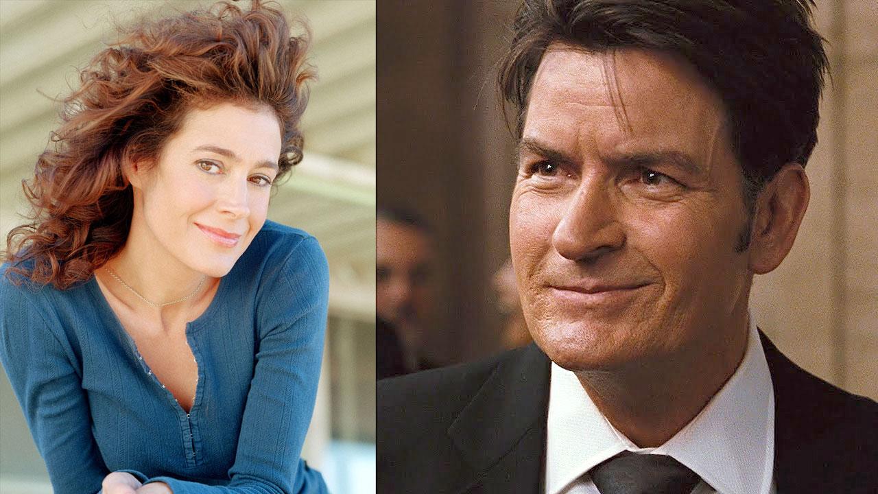 Sean Young and Charlie Sheen