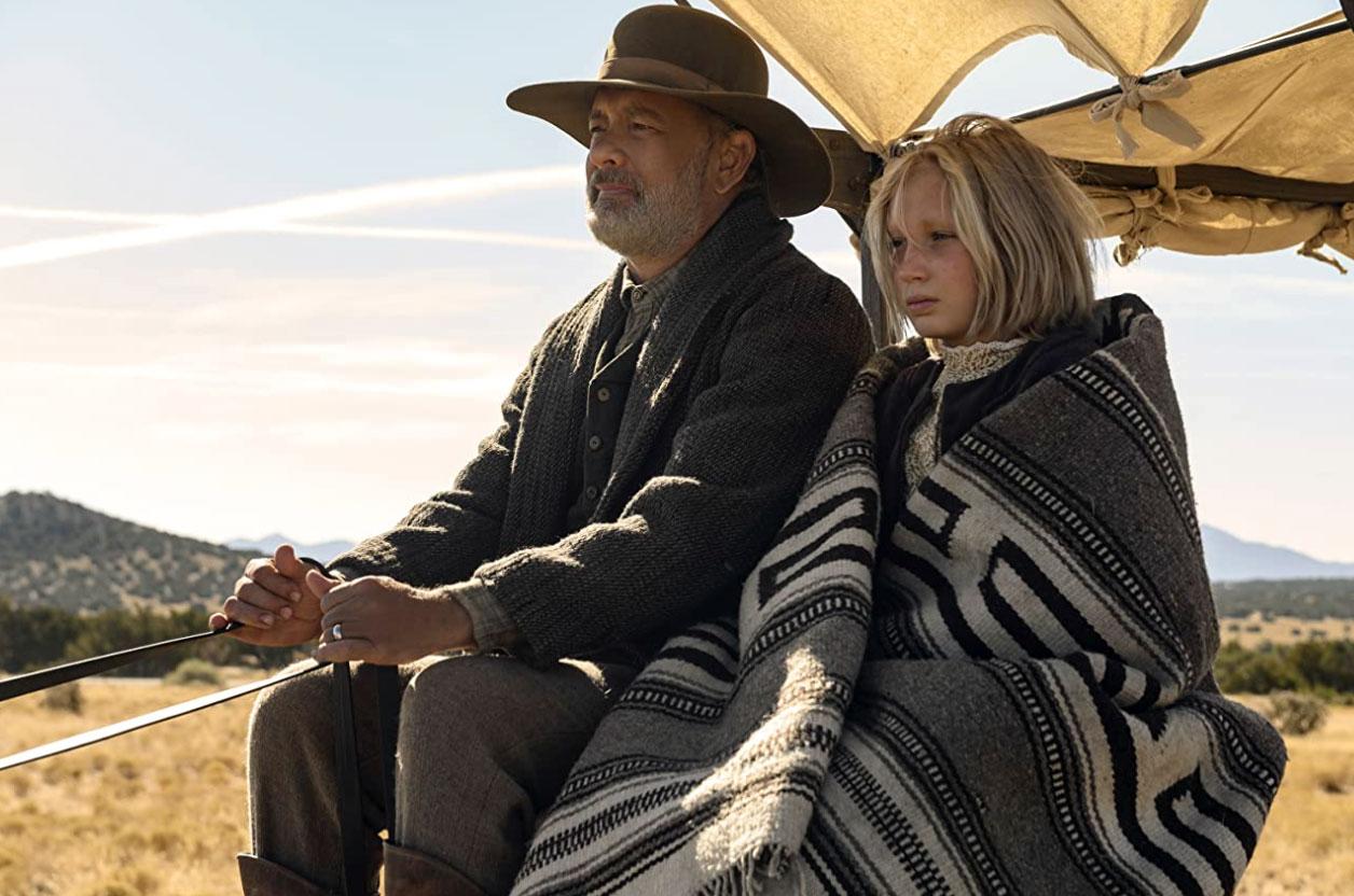 Tom Hanks and Helena Zengel in News of the World