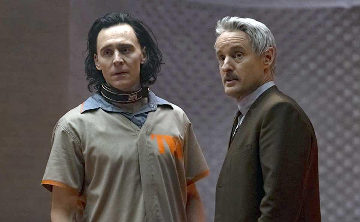Tom Hiddleston and Owen Wilson in Loki on Disney+