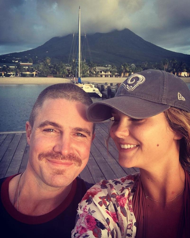 Cassandra and Stephen Amell Instagram image